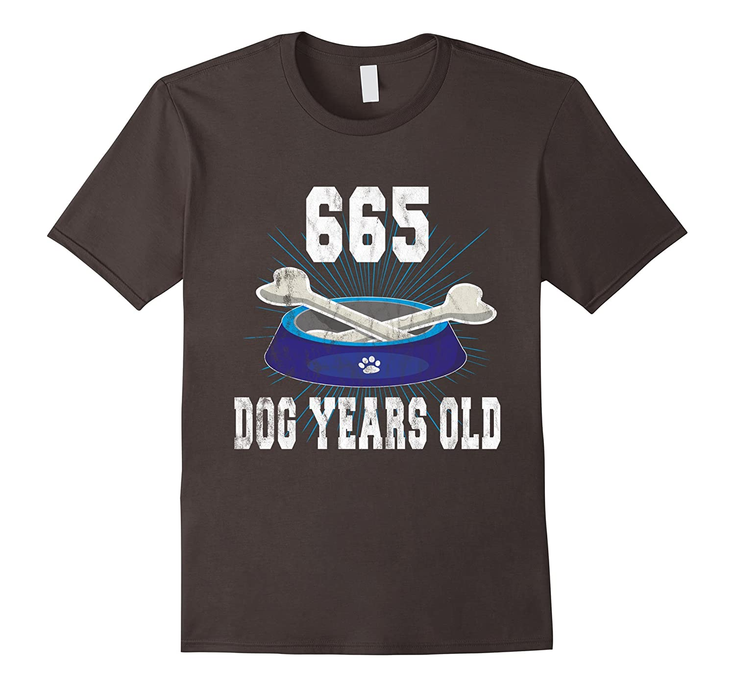 665 Dog Years Old  Funny 95th Birthday Tee For Dog Lovers-PL