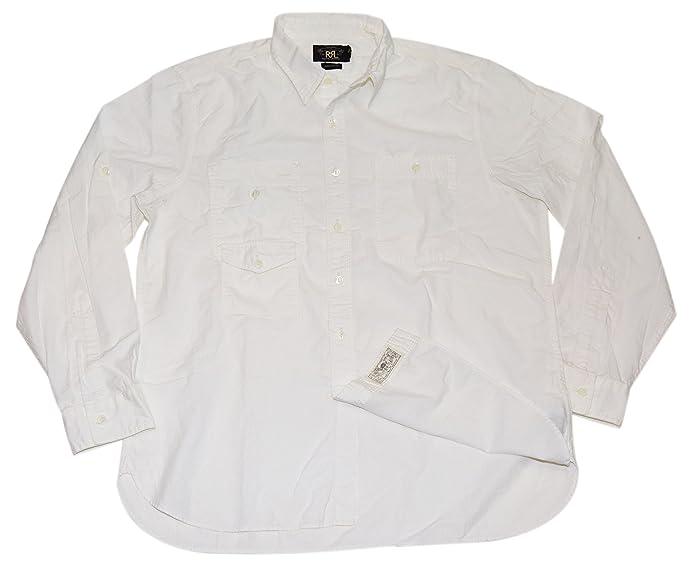 6abcfb168 ... ireland polo ralph lauren double rl rrl mens button down cargo oxford shirt  white xl 5916e