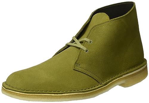 653ec1df1caef3 Clarks Originals Desert Boot, Polacchine Uomo, Verde (Evergreen Suede), 41  EU