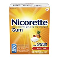 Nicorette Nicotine Gum to Stop Smoking, 2mg, Fruit Chill, 160 Count (Pack of 1)