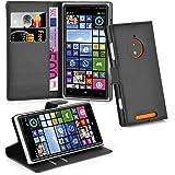 Cadorabo - Etui Housse pour > Nokia Lumia 830 < – Coque Case Cover Bumper Portefeuille (avec stand horizontale et fentes pour cartes) en NOIR DE JAIS