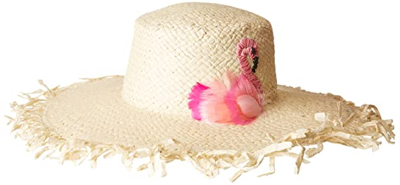 San Diego Hat Company Women s Flamingo Woven Paper Floppy Hat ... 967fa31d2bab
