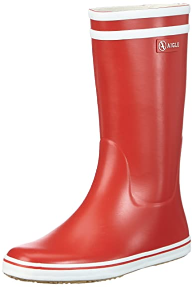 Aigle Malouine Bt, Women's Rain Boots - Red, ...