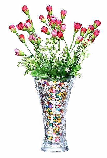 Buy Prax Crystal Touch Beautiful Decorative Designer Flower Vase