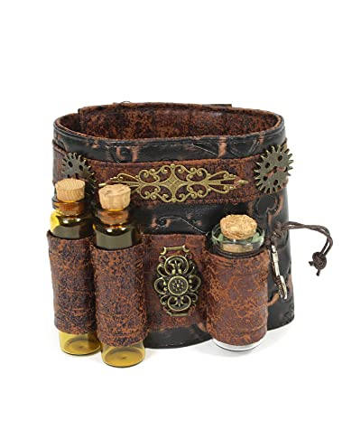 Largemouth Unisex Faux Leather Steampunk Wristband Cuff