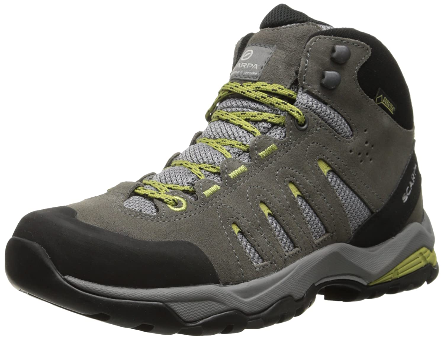 SCARPA Women's Moraine Mid GTX Hiking Shoe B00LM6N1IY 39 M EU / 7.5 B(M) US|Dark Grey/Celery