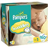 Pampers Swaddlers Diapers Size 1 Giant Pack, 160 Count
