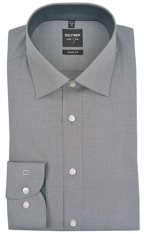 TALLA 39. Olymp - Camisa Formal - Cuadros - Clásico - Manga Larga - para Hombre