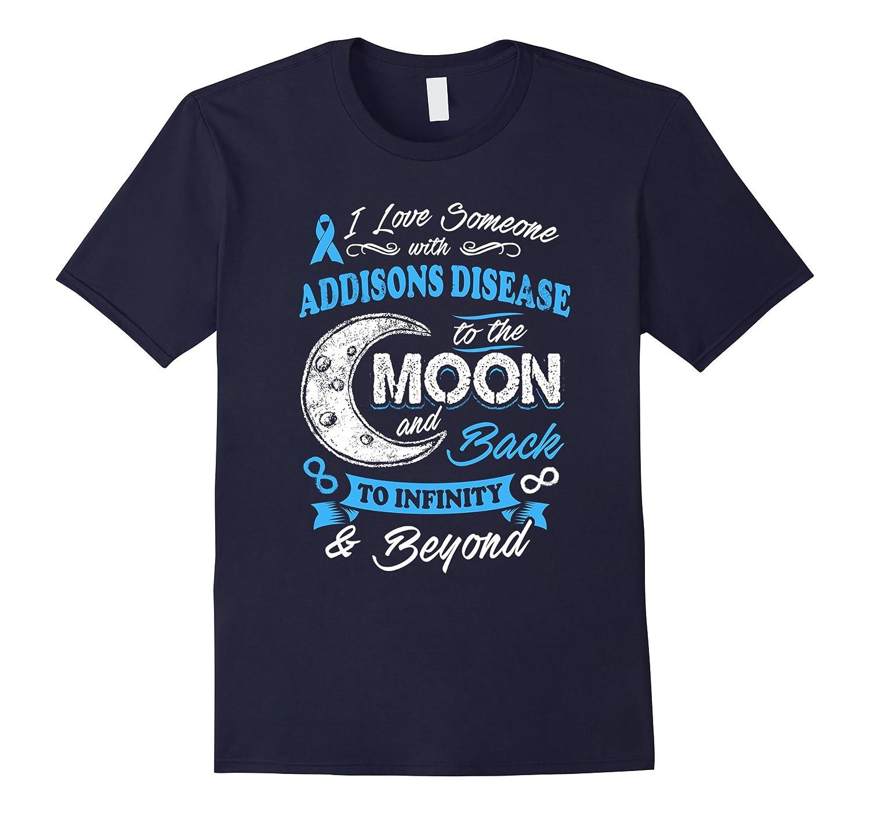 Addisons Disease Awareness Moon Back Love T Shirt-BN