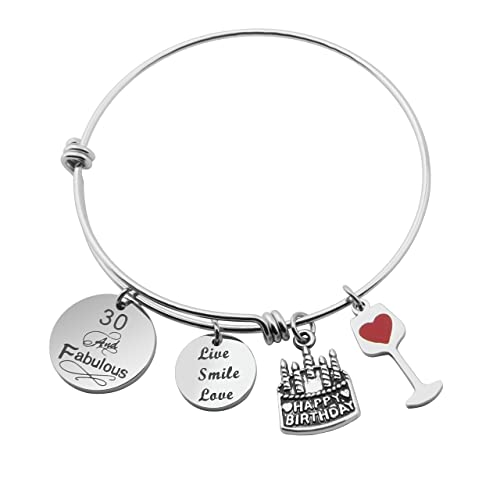 MAOFAED Birthday Gifts For Her Expandable Bangle 30th 40th 50th 60th Ideas