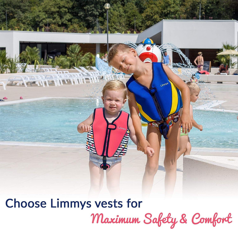 Limmys Premium Neopren Schwimmweste ideale Schwimmhilfe f/ür M/ädchen EXTRA Kordelzugtasche inklusive
