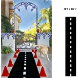 Adorox 1Pk (24'' x 10ft long) Racetrack Floor Runner Party Decoration Race Car Theme