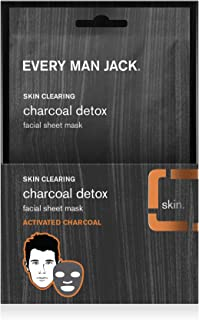 product image for Every Man Jack Facial Sheet Mask, Activated Charcoal (6 Pack)