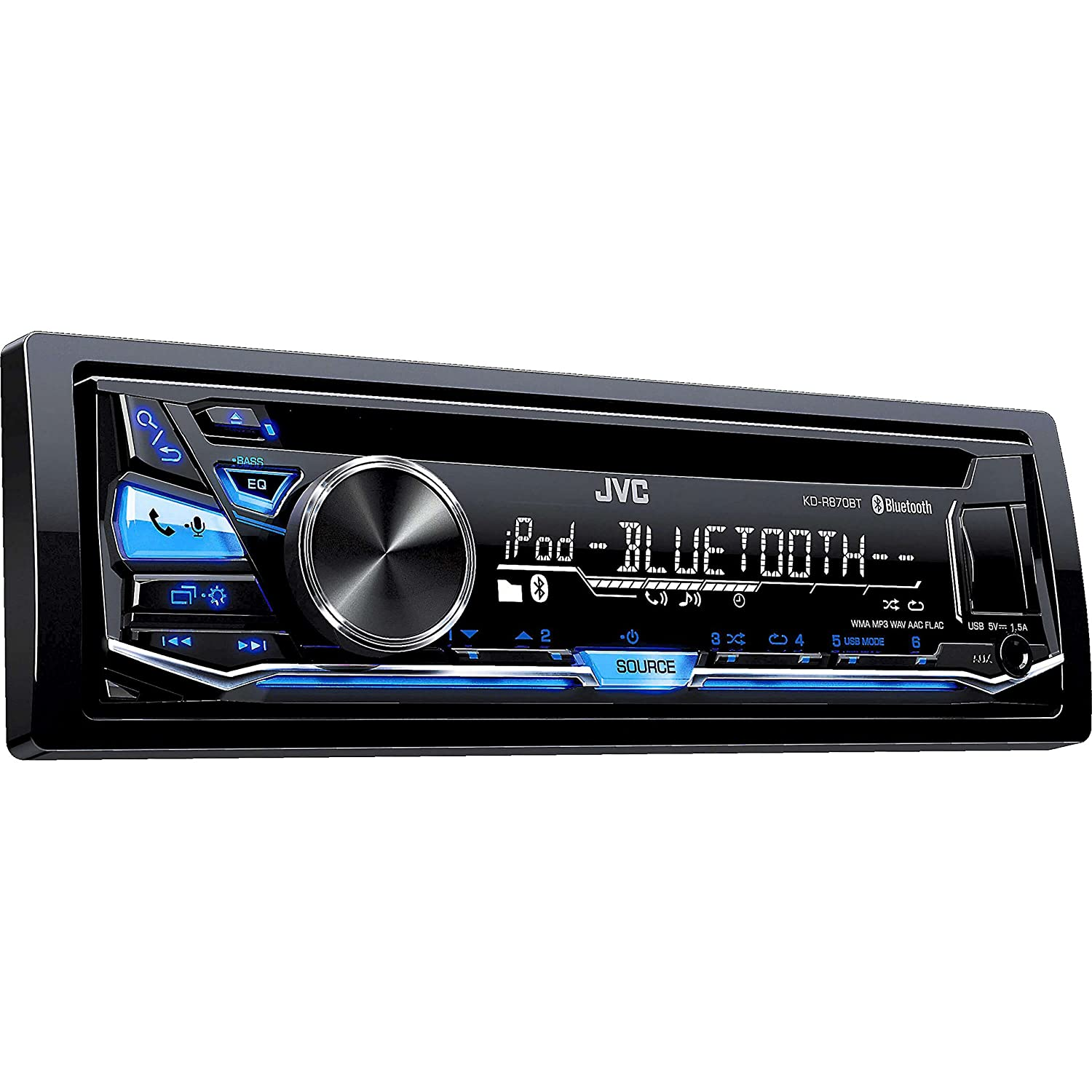 Amazon.com: JVC KD-R870BT CD/MP3 Car Stereo USB AUX AM/FM Radio iPod/iPhone/Android  Receiver with Dual Phone Connection Built in Bluetooth and Hands Free ...
