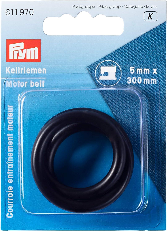 Prym 611970 - Correa de Entrenamiento para Motor de máquina de Coser, Goma, Negro, 2 x 1 x 1 cm
