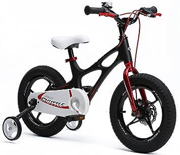 Bicicleta infantil Space Shuttle de 41 cm, ligera, marco de magnesio, con ruedines