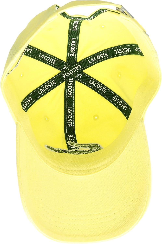 33d4cc1967fe Lacoste Mens Big Croc Gabardine Cap - Yellow - One Size  Amazon.co.uk   Clothing