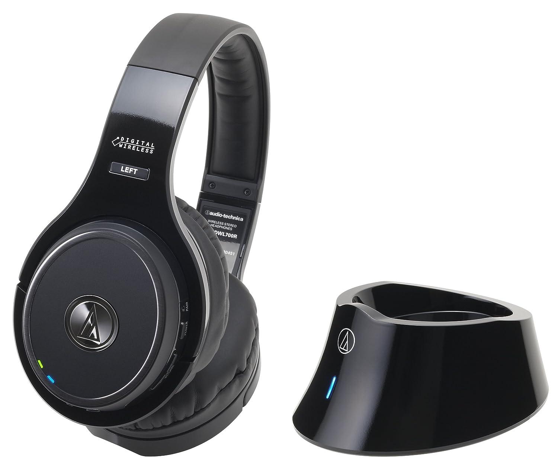 audio-technica 密閉型サラウンドワイヤレスヘッドホンシステム ブラック ATH-DWL700   B00JFSFQM0