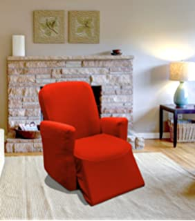 RED Jersey Stretch Slipcover, Couch Cover, Sofa Love Seat Chair And  Recliner, Furniture