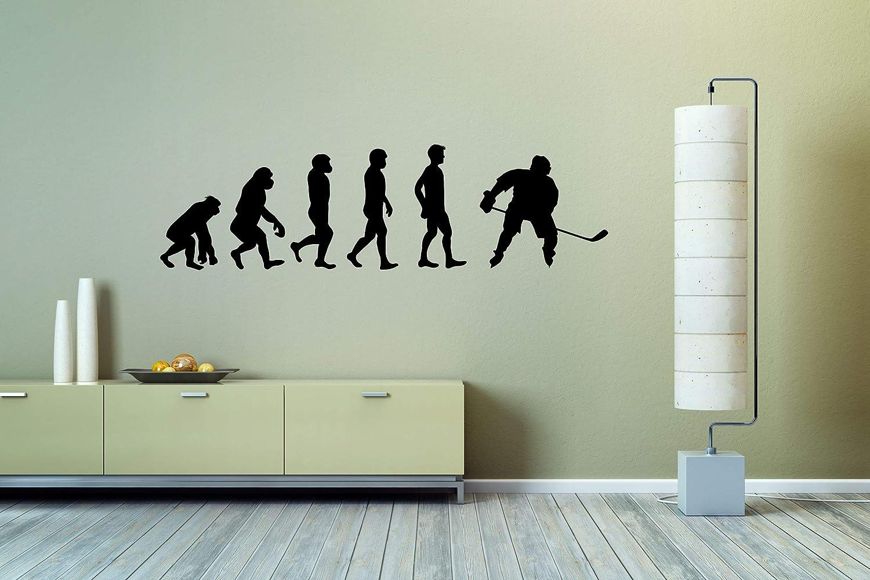 Wall Vinyl Sticker Hockey Player Sport Evolution Human Game Car Mural Decal Art Decor LP2934