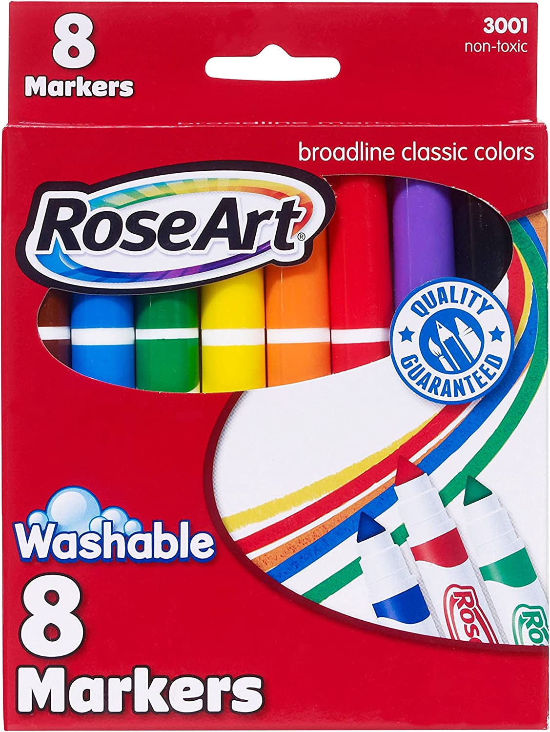 RoseArt Classic Washable Broadline Markers 8-Count Packaging May Vary DDT57 Mattel