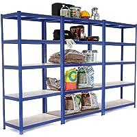 3bahía resistente garaje estantería de acero–estantería (275kg por