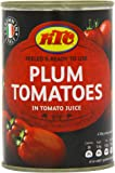 KTC Plum Tomatoes 400 g (Pack of 12)