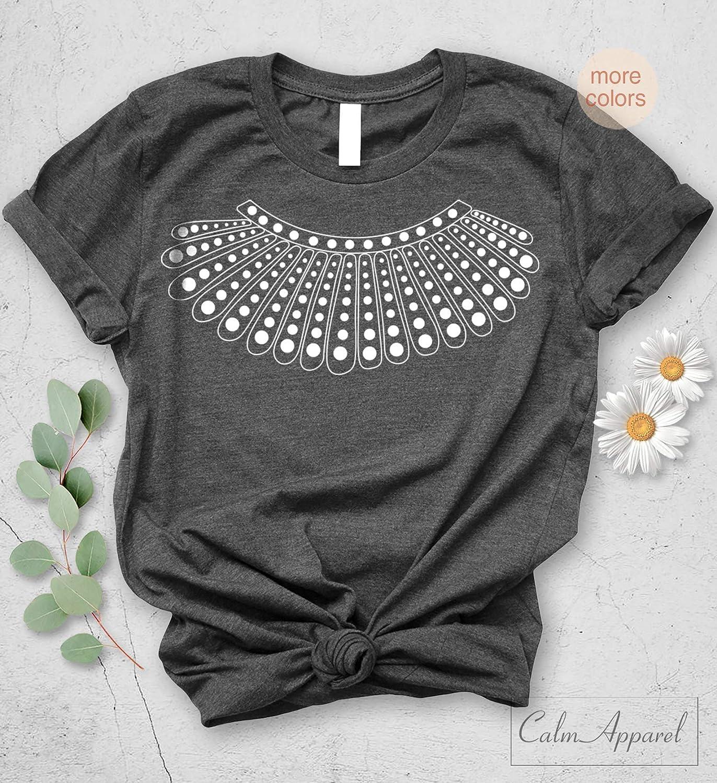 b1675aad Amazon.com: RBG Ruth Bader Ginsburg T-Shirt Unisex Graphic Notorious RBG Tee:  Handmade