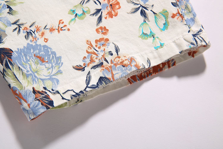 SSLR Mens Elastic Floral Flat Front Short