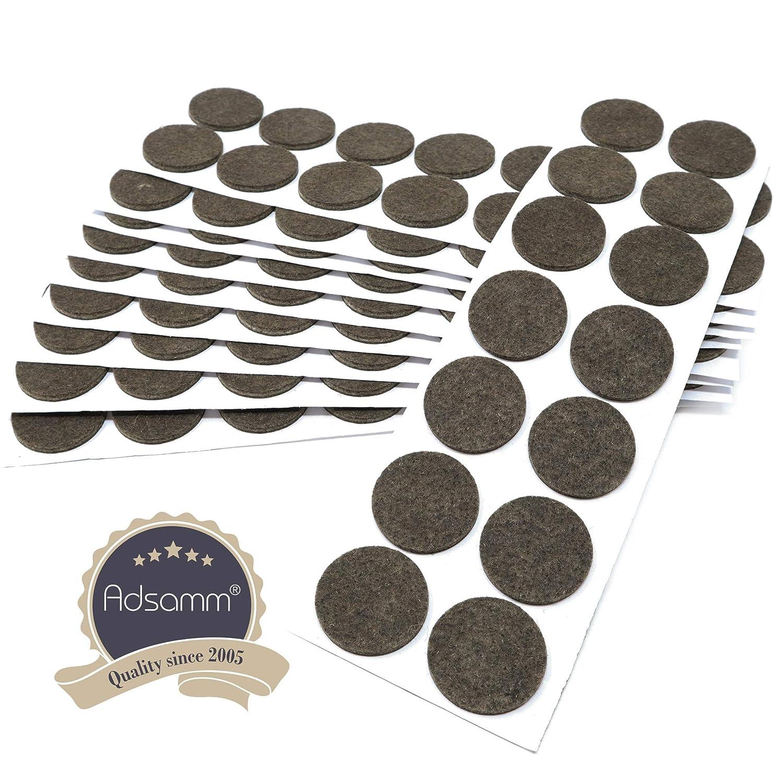 /Ø 32 mm auto-adhesivos con grosor de 3,5 mm de la m/áxima calidad marr/ón Protectores de suelo para patas de mueble Adsamm/® 14 x almohadillas de fieltro redondo