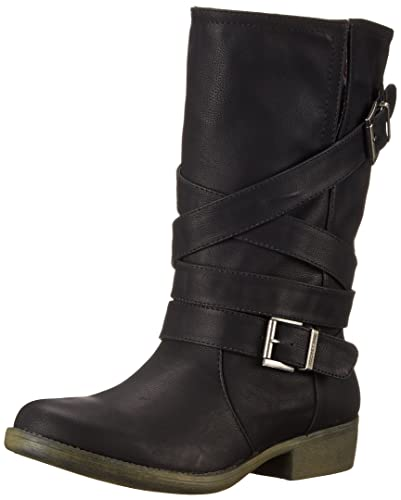 Rocket Dog Women's Truly Westwood Pu Motorcycle Boot, Black, ...