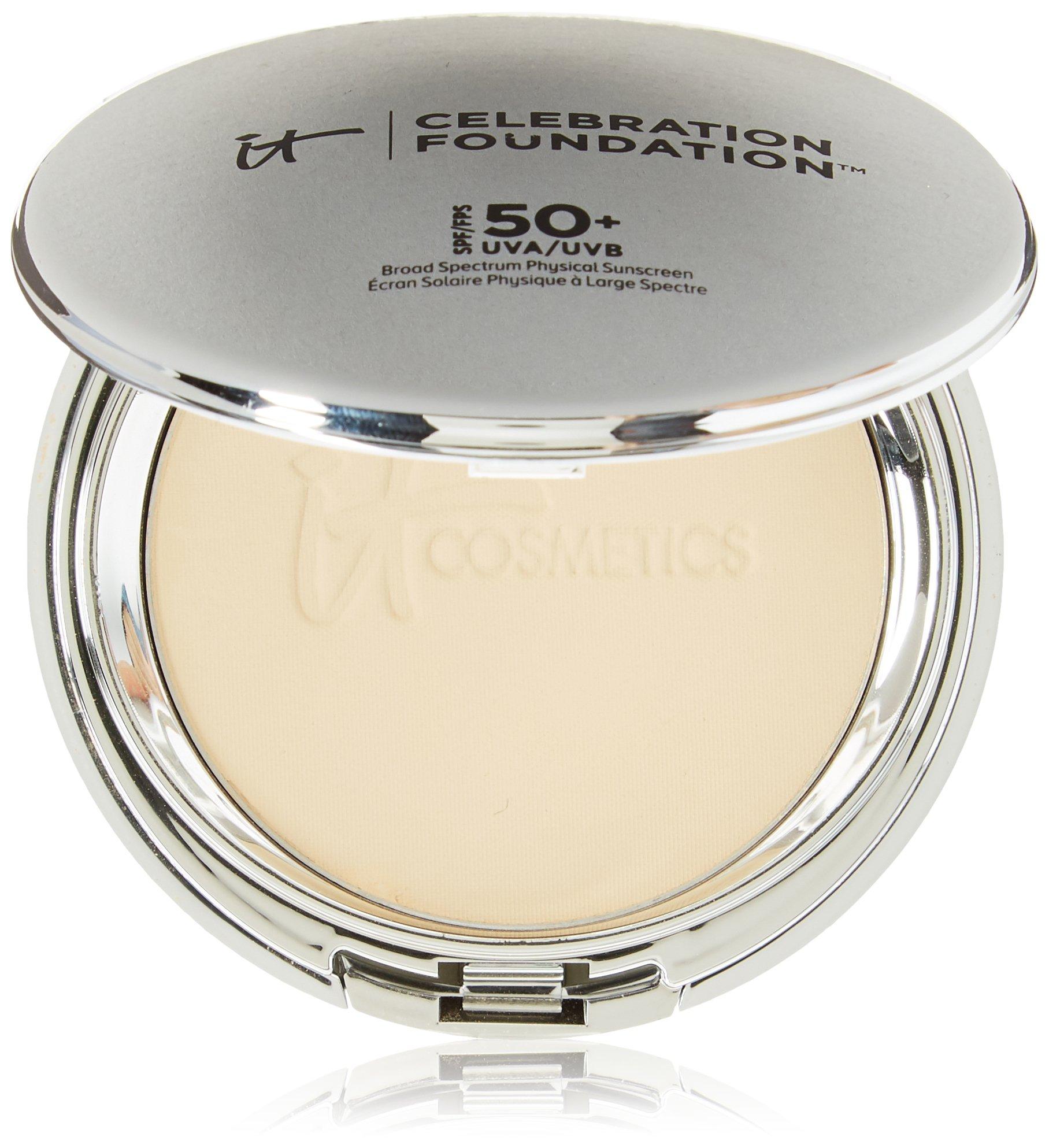 It Cosmetics Celebration Foundation Full Coverage Anti-Aging Hydrating Powder Foundation with SPF 50 in Medium 0.30 OZ