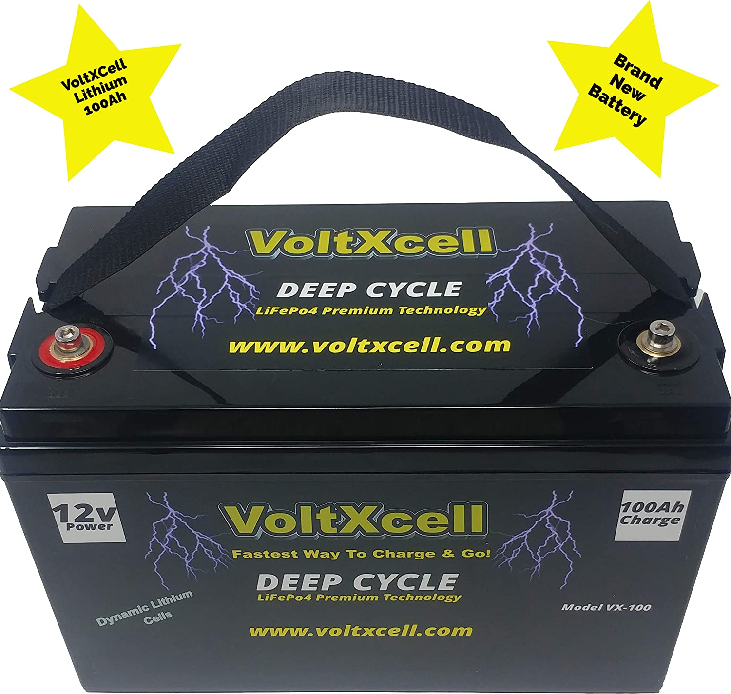 12v Lithium Battery 100ah Solar 12 Volt Wind LifePo4 BMS Included Off Grid for Storage RV Home Car Audio Power Quick Charging