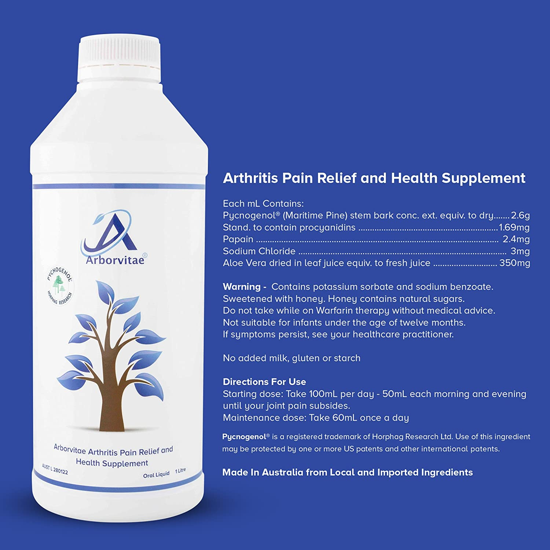 Arborvitae Joint Health Supplement 1 Lt Liquid With Antioxidant