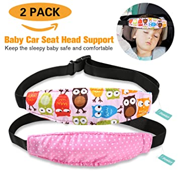 Amazon.com: 2 Packs Toddler Car Seat Neck Relief and Head Support ...