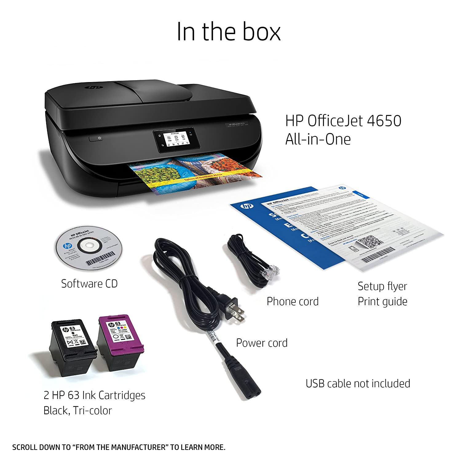 HP OfficeJet 4650 Wireless All-in-One Photo Printer: Amazon in