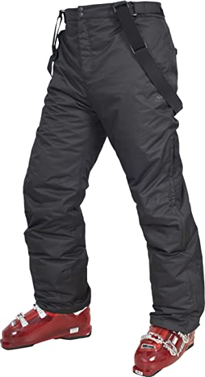 2bc3b2ded03f Trespass Bezzy, Black, XXS, Waterproof Ski Trousers with Ankle Zips, Ankle  Gaiters