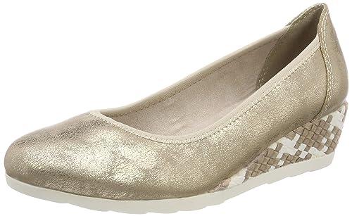 Softline 8-8-22363-28, Zapatos de Cuñas Mujer, Dorado (Platinum 957), 40 EU