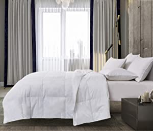 Elle Décor ELLE 225 Thread Count Tencel Poly Filled Down Alternative Comforters, Full/Queen, White