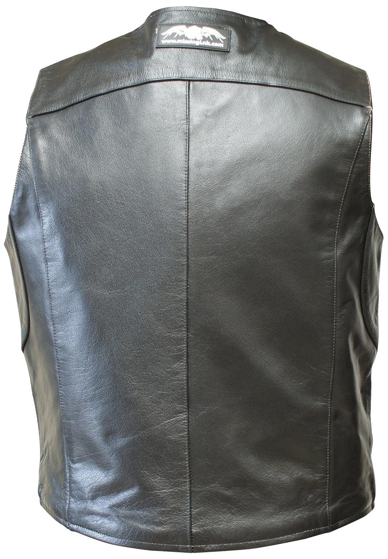 Leather jacket zippay - Amazon Com Missing Link Men S D O C Reversible Safety Vest Black Hiviz Green X Large Missing Link Automotive