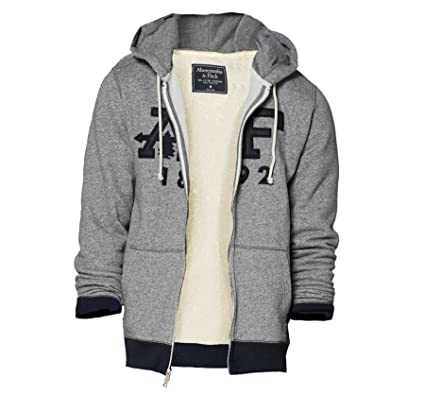 72ac11f3025 Abercrombie Men s Graphic Full-Zip Hoodie Fleece Sweatshirt Hoody ...