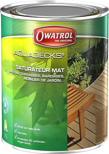 Owatrol Aquadecks Permanent Wood Waterproofing 1 Liter (Teak ...