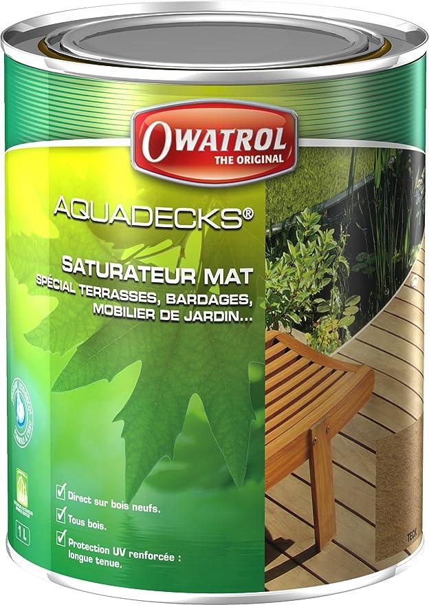 Owatrol Aquadecks dauerhafte Holzimprägnierung 1 Liter (Teak)