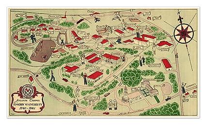 Amazon.com: MAP of EMORY University, Atlanta, Georgia ... on