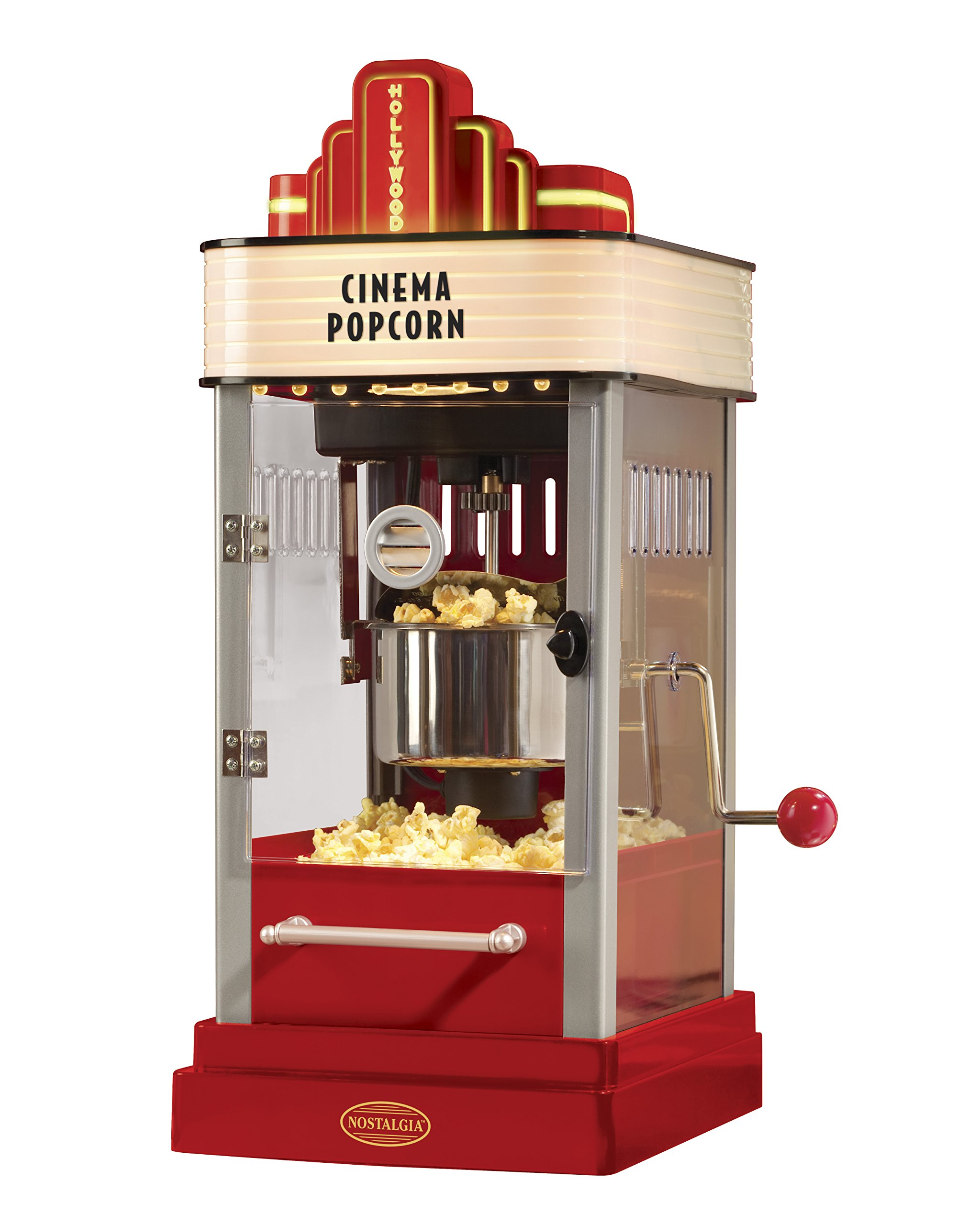Nostalgia HKP200 2.5-Ounce Popcorn Popper with Lighted Marquee