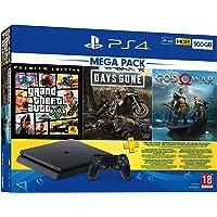 PS4 500GB Mega Paket (GTA V + Days Gone + God of War)