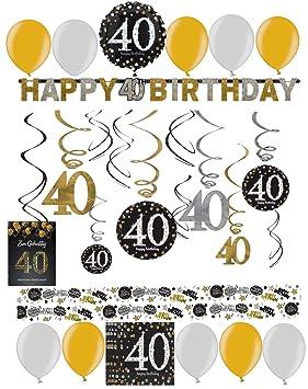 Libetui 40 Cumpleaños Decoración - Juego de decoración ...