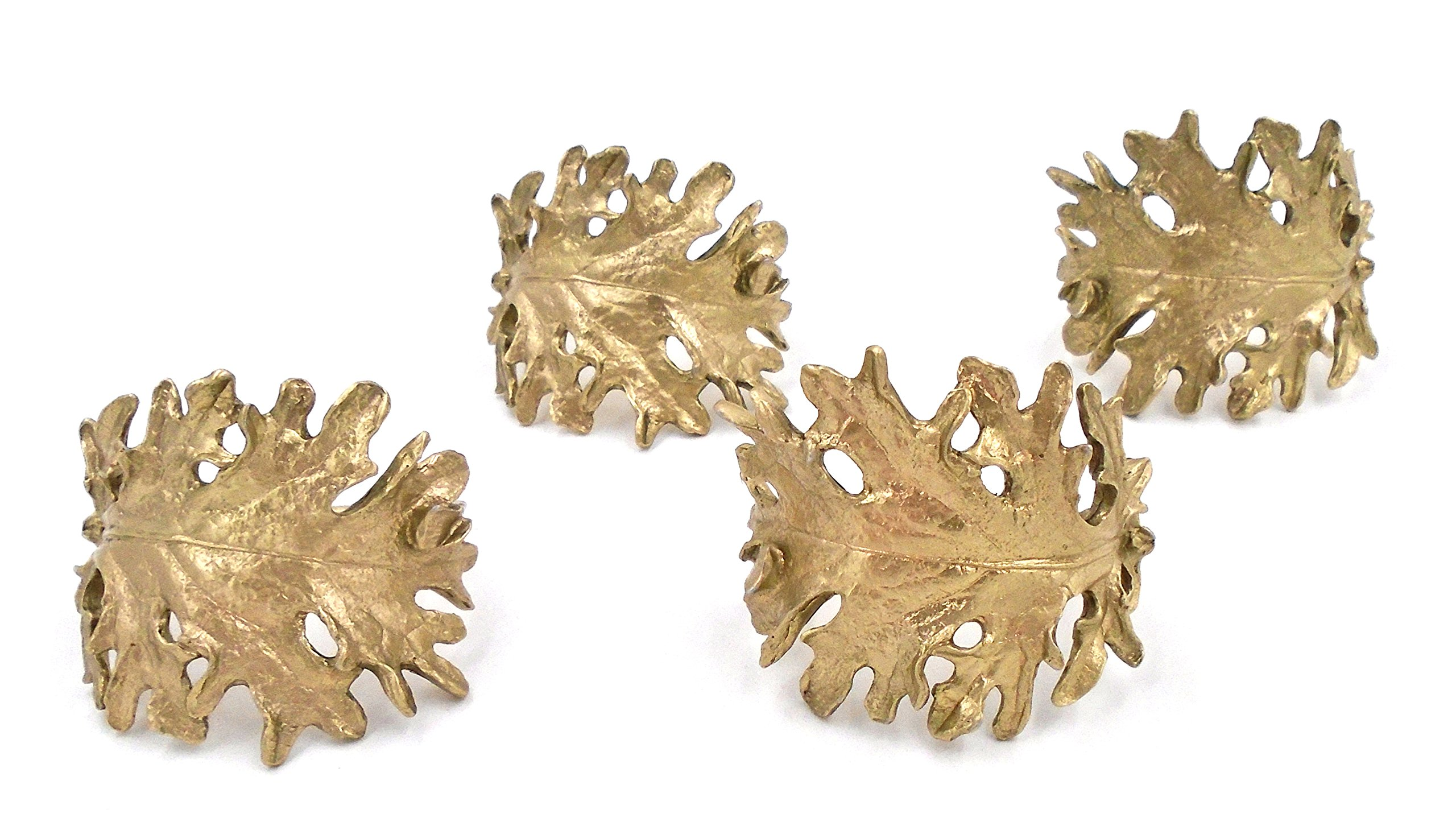 ''Kale'' Napkin Rings (Set of 4) ~ Table Art by Michael Michaud for Silver Seasons