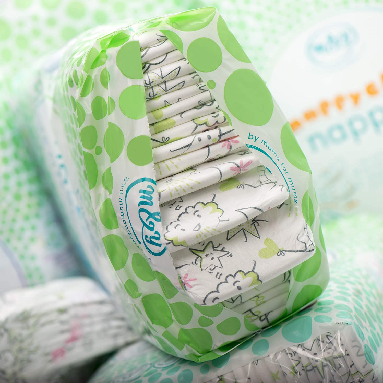 Diapers size 4 58 ct Mum /& You Nappychat Eco