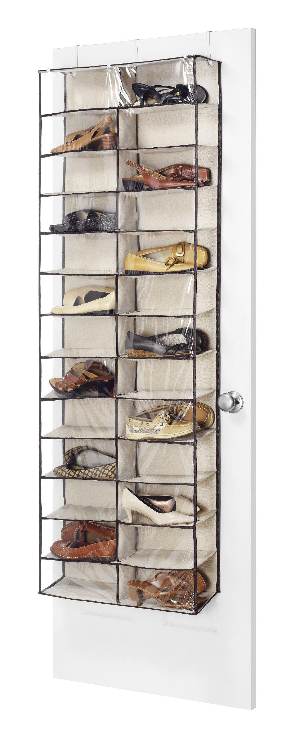 Whitmor Over The Door Shoe Shelves - 26 Sections - Espresso